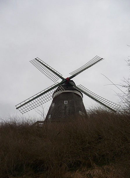 Windmill Buildings Structure Architecture Mill Gri