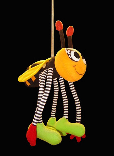Soft Lenient Doll Bumblebee Toy Spring Coil Mobile