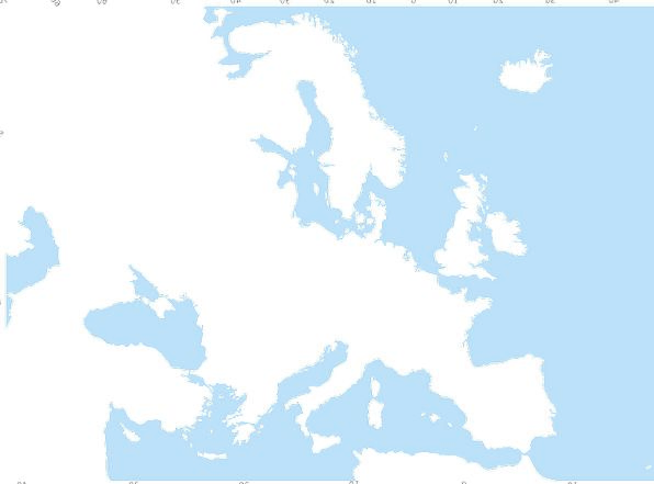 Europe Vacation Chart Travel Ocean Marine Map Geog