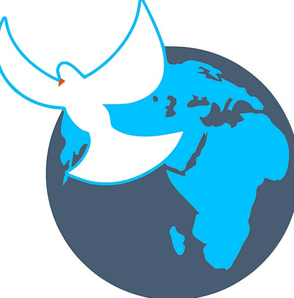 Globe Sphere Pacifist Freedom Liberty Dove Symbol Released