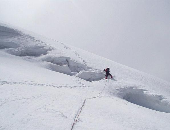 Glacier Fissure North Wall Crevasse Rope Cord Clim