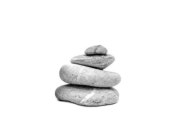The Stones Pebble On A White Background Stone Zen