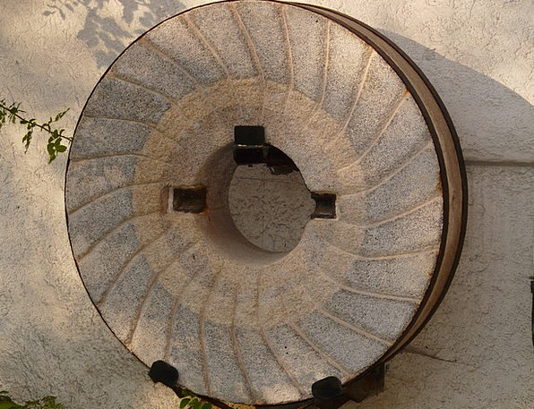 Millstone Burden Grinder Stone Pebble Mill About A