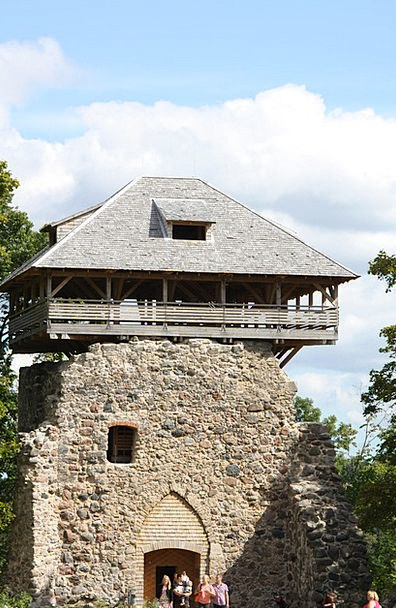 Castle Tower Monuments Places Middle Ages Sigulda