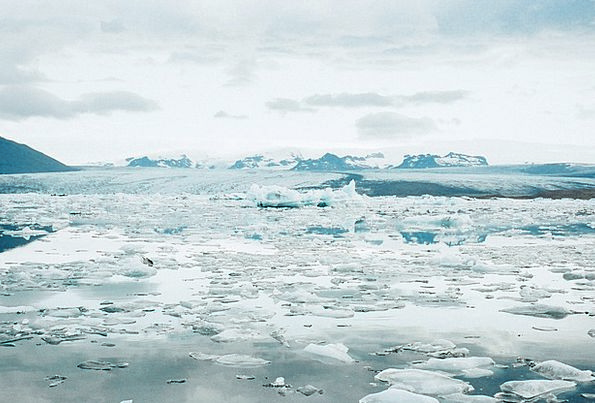 Glacier Landscapes Inlet Nature Iceland Lagoon Ice