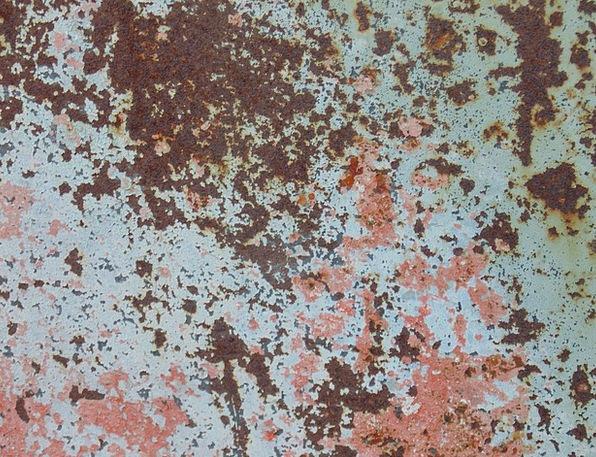 Rusty Corroded Azure Red Bloodshot Blue