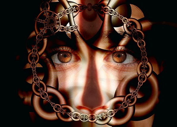 Chains Manacles Wedged Psyche Soul Caught Reality