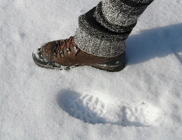 Foot Base Footmark Step Stage Footprint Winter Sea