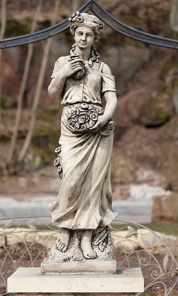 Marble Statue Fashion Figurine Beauty Woman Lady S