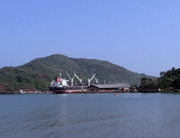 Port Harbor Vessel Arabian Sea Ship Karwar Western