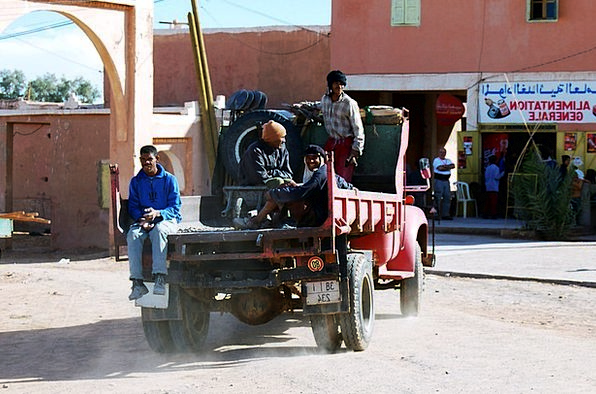 Morocco Traffic Transportation Marroc Africa Work