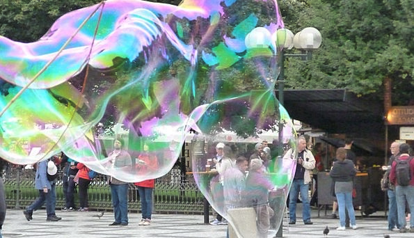 Soap Bubbles Interesting Iridescent Shimmering Col