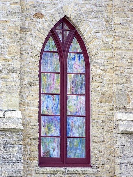 Window Gap Discolored Glass Cut-glass Stained Jesu