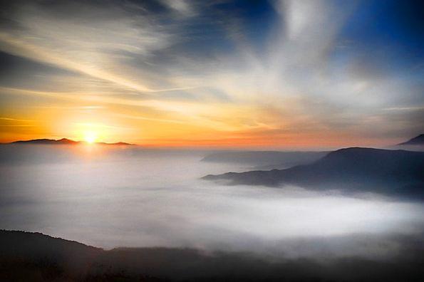 Japan Somma Aso Sea Of Clouds Cloud Kumamoto Hdr M