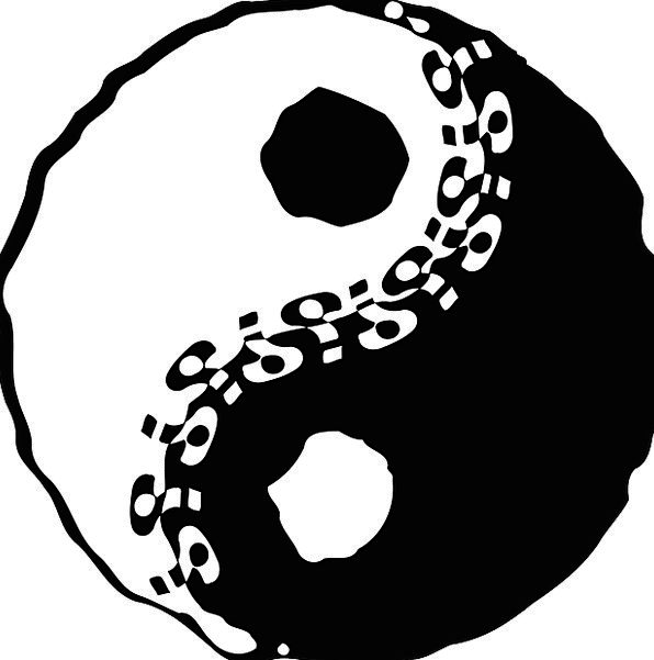 Yin Tao Yang Symbol Sign Cosmological Free Vector