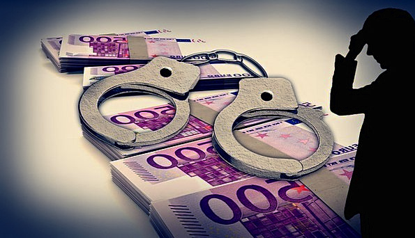 Handcuffs Manacles Finance Outline Business Money