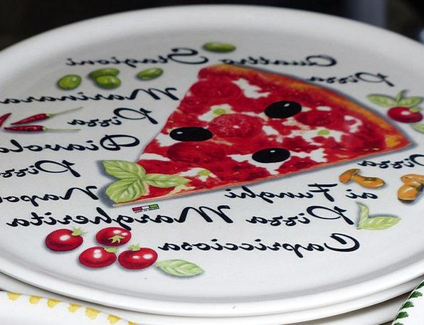 Plate Bowl Italian Pizza Plate Ceramic Earthenware