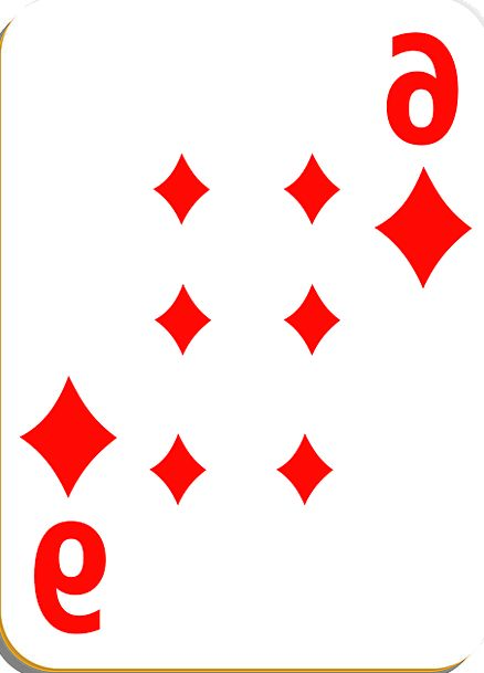 Playing Card Card Diamonds Rhombuses Six Gamble Pl