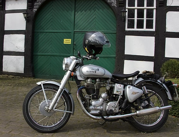 Motorcycle Motorbike Traffic Transportation Techno