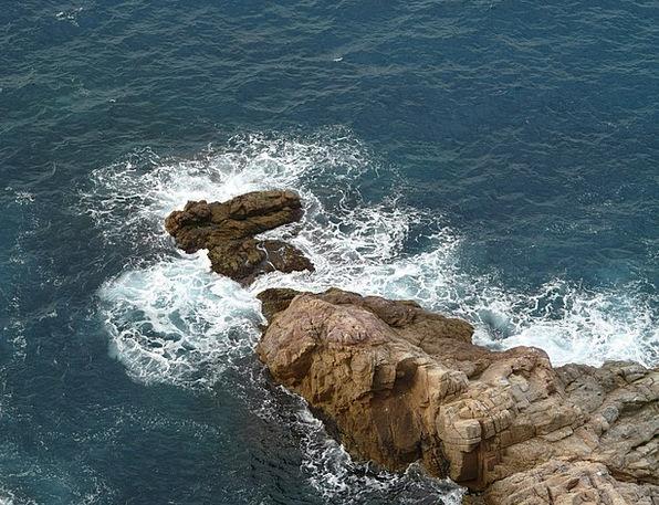 Rock Pillar Marine Surf Spray Sea Water Aquatic