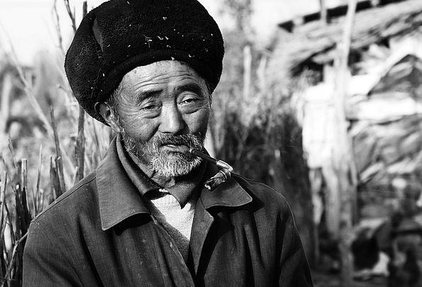 China Porcelain Representation Man Gentleman Portr