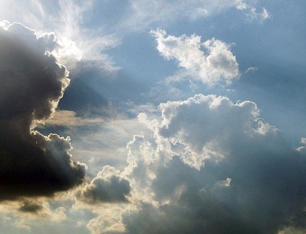 Clouds Vapors Blue Sun Sky Rays Emissions Cloudsca