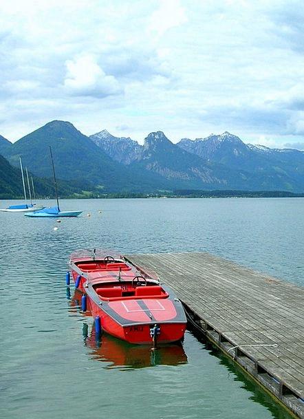 Mondsee Understand Powerboat Motorboat See Boot Gu