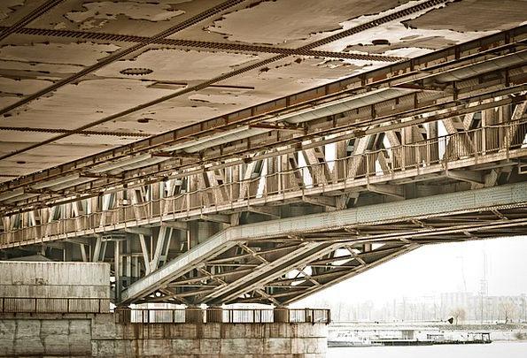 Rail Bar Bond River Stream Bridge Old Bridge Archi