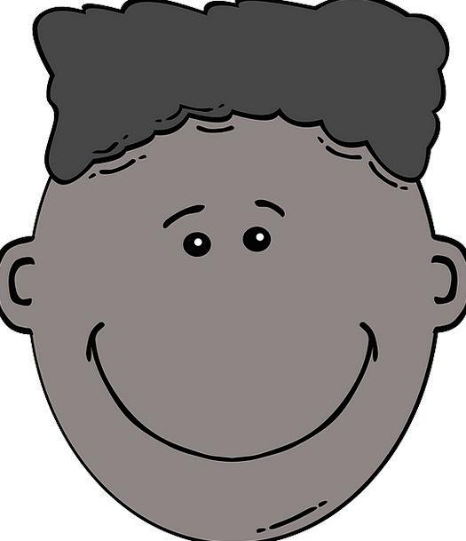 Black Dark Kid Child Face Joy Boy Lad Ethnicity Ha
