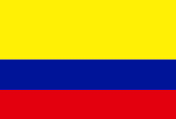 Colombia Standard National Nationwide Flag Latin A