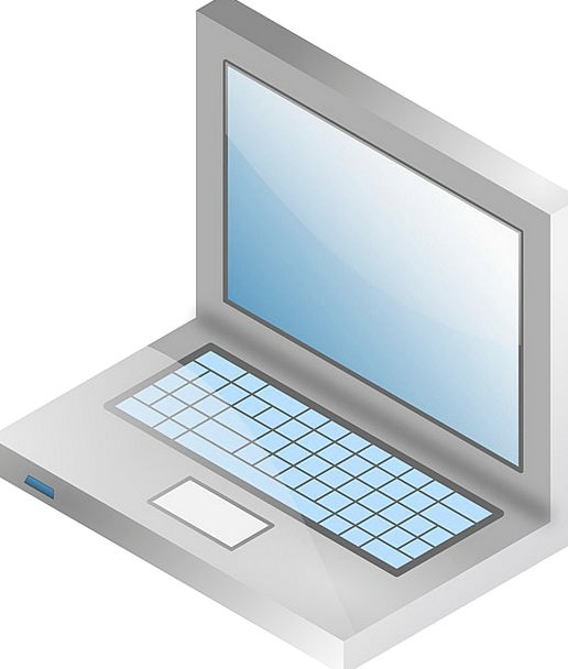 Laptop Processor Communication Computer Vector Cou