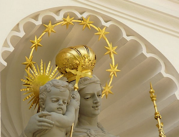 Angel Seraph Consecrated Gold Gilded Holy Crown To