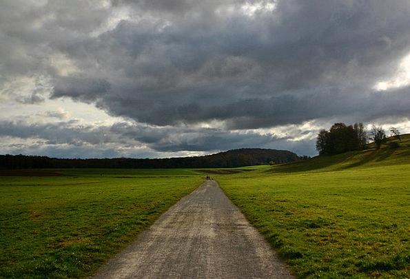 Lane Path Landscapes Climate Nature Rain Volley We