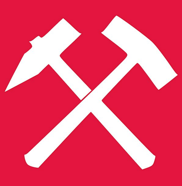 Red Bloodshot Snowy Iron Firm White Hammer Mallet