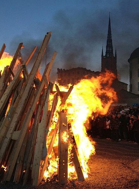 Valborg Riddarholmen Bonfire Stockholm Fire Sweden