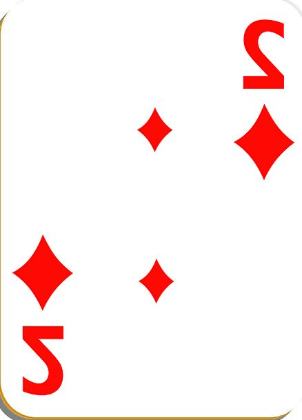 Playing Card Card Binary Diamonds Rhombuses Two Wi