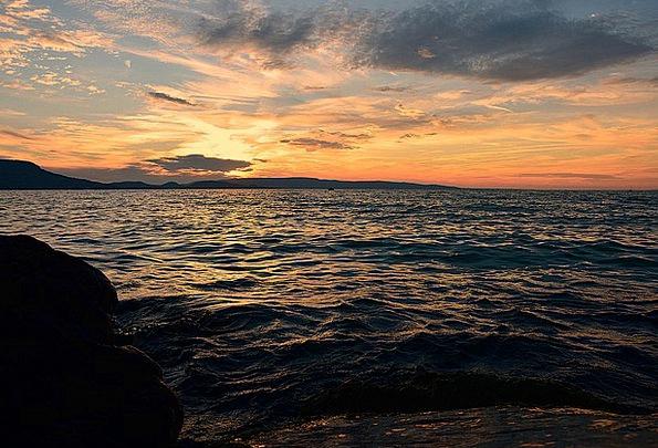 Lake Balaton Vacation Dusk Travel Sunset Sundown N