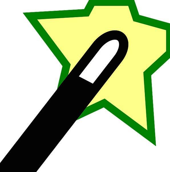 Wizard Sorcerer Act Wand Baton Action Sign Symbol
