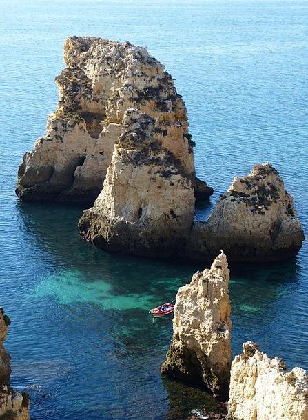 Algarve Landscapes Nature Sea Marine Portugal Clif