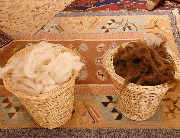 Wool Fibers Angora Carding Wool Brown Chocolate Wh