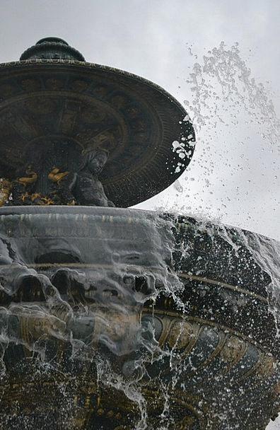 Fountain Cascade Concord Agreement Paris Water Aqu
