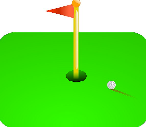 Golf Sphere Course Sequence Ball Hole Flag Standar