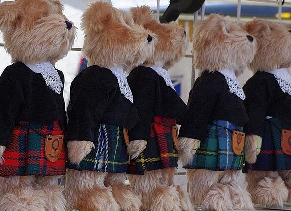Teddy Bears Skirt Shop Window Kilt Ontario Canada