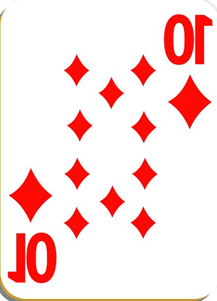 Playing Card Card Diamonds Rhombuses Ten Win Game
