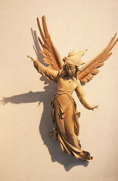 Angel Seraph Timber Carved Imprinted Wood Val Gard