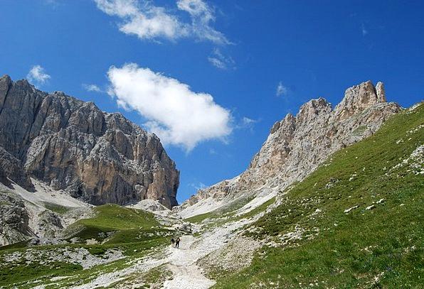 Dolomites Landscapes Padlock Nature Hiking Mountai