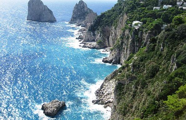 Amalfi Coast Precipice Italy Cliff Amalfi Capri Su