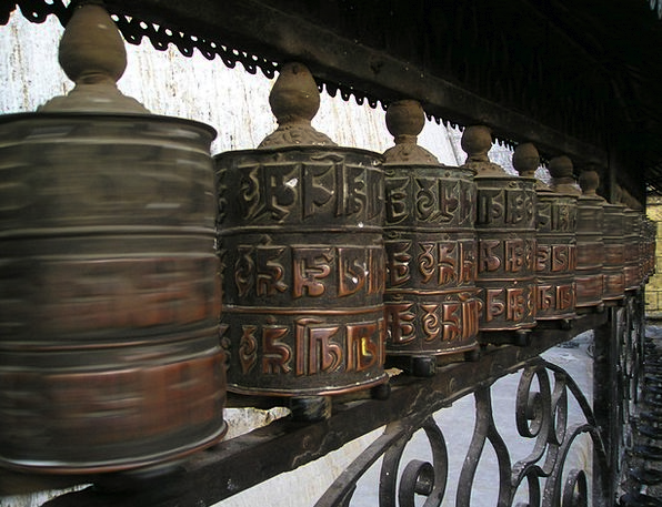 Nepal Turn Go Prayer Wheels Prayers Devotions Pray