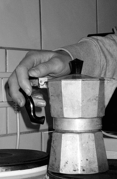 Coffee Chocolate Stove Cooktop Italian Metallic Es