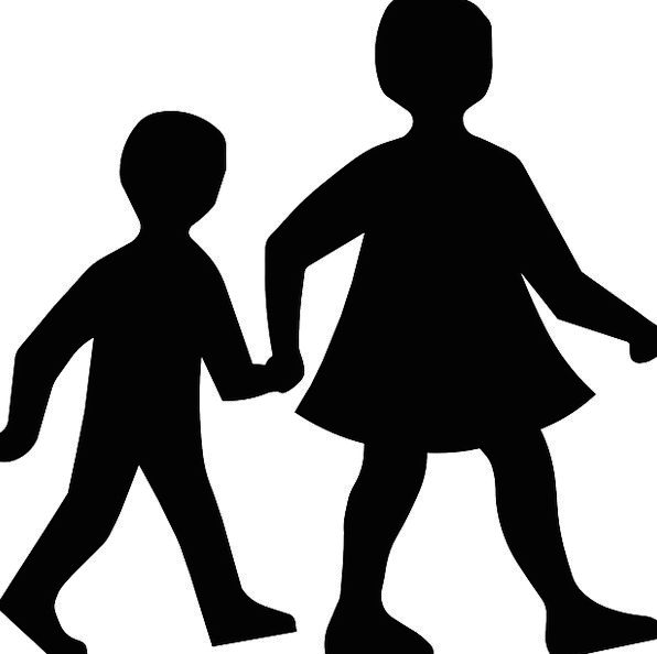 Children Broods Holding Hands Walking Silhouette O